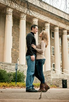 penn state engement photos | Penn State Old Main engagement photo