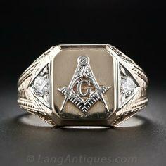 Gent's Masonic Ring from SF's Granat Brothers Masonic Store, Masonic Art, Masonic Jewelry, Masonic Symbols, Royal Arch Masons, Triangle Symbol, Freemason Ring, Piercings, Freemasonry