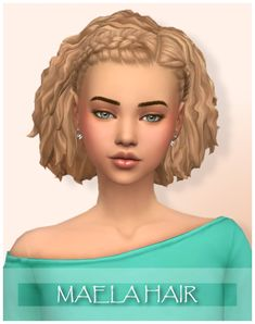 Sims 4 CC - Maela hair by WonderCarlotta - Wondercarlotta - Sims 4 Maela Hair BGC All 18 EA swatches Tested in game Teen to elder Hat compatible Custom thumbnail Feel free to recolor but do not include the mesh. Sims 4 Cc Packs, Sims 4 Mm Cc, Sims 3, Maxis, Medium Hair Styles, Short Hair Styles, Hair Medium, Tumblr Sims 4, Los Sims 4 Mods