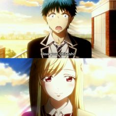 Yamada kun and the Seven witches. This is the end of the episode and Ryu Yamada confesses his love for Urara Shiraishi I loved this scene soo much.