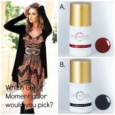 Which would you choose? GelMoment DIY gel polish www.melcurran.gelmoment.com