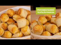 Egyszerű tejfölös pogácsa - YouTube Pretzel Bites, Bread, Ethnic Recipes, Food, Youtube, Brot, Essen, Baking, Meals