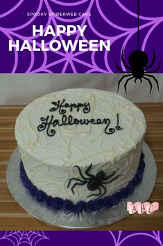 A simple ganache drizzle makes a perfect spiderweb on this spooky Halloween cake Spooky Halloween Cakes, Happy Halloween, Giant Cupcake Cakes, Creative Wedding Cakes, Diy Cake, Cake Shop, Quick Bread, Bakery, Birthday Cake