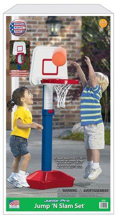 Delightful Toyshop | American Plastic Toys Jump & Slam Basketball Set
