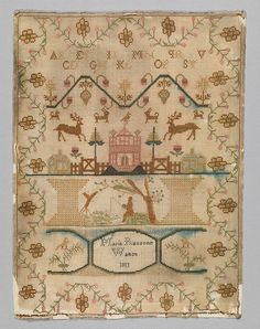 Sampler Date: 1811 Culture: British Medium: Silk on wool Dimensions: Overall (confirmed): 13 5/8 x 10 1/2 in. (34.6 x 26.7 cm) Classification: Textiles-Embroidered Credit Line: From the Collection of Mrs. Lathrop Colgate Harper, Bequest of Mabel Herbert Harper, 1957 Accession Number: 57.122.553