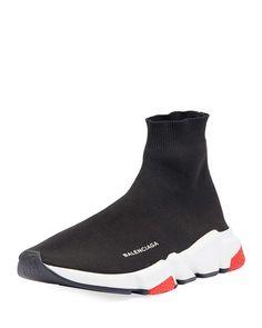 ff43581c0 Balenciaga Men s Speed Mid-Top Trainer Sock Sneakers