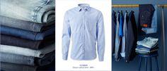 #MQ Denim Button Up, Button Up Shirts, Blue Denim, Blues, The Selection, Tops, Fashion, Moda, Fashion Styles