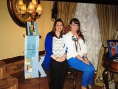 Decorate different spots all over the house for pictures with a baby scene. Mother to be and Sister