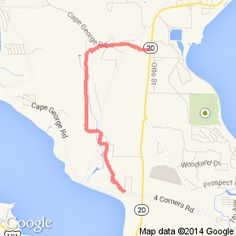My bike route today.