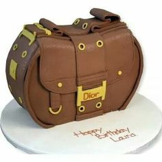 Bag cake idea: A Christian Dior bag cake, the detailing is fantastic