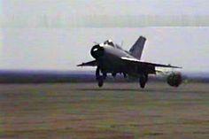 Alexandru Trandafir You saved to MiG-21 in Aircraft MiG-21 MF brake chute during flaring 1 - Romanian Air Force, 1993. Copyright Alex Trandafir.