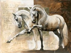 Fenêtre sur mon âme (A Window to my Soul) by Elise Genest. http://www.elise-genest.com/#/giclee/  Extraordinarily talented painter with an appreciation of equine form, musculature, energy and light.