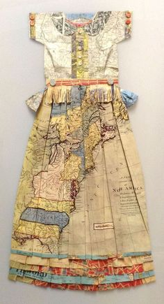 Dress made from map