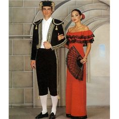 Spanish Dancer Matador Costume Pattern Butterick 3237 OOP