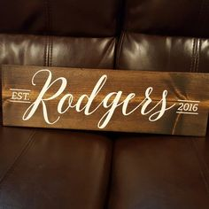 Custom signs for newlyweds, a new home or an anniversary gift! Name, year, stain and paint colors are all customizable.