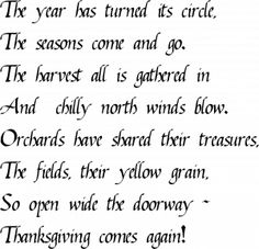 Ralph Waldo Emerson. Thanksgiving verse