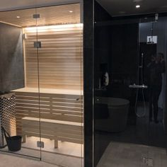 Master Bathroom, Blinds, Divider, Bathtub, Saunas, Curtains, Interior Ideas, Furniture, Design