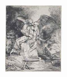 The Sacrifice of Abraham 1655 by Rembrandt van Rijn Rembrandt Etchings, Story Of Abraham, Amsterdam, Art Grants, Museum, Art Google, Dark Art, Techno, Printmaking