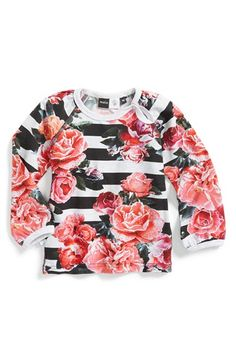 Molo 'Evette' Floral & Stripe Print Long Sleeve Tee (Baby Girls) available at #Nordstrom