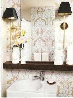 Good idea for a small bathroom or powder room