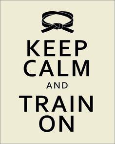 """""""Keep calm and train on"""", via Flickr (S.Leece)"""