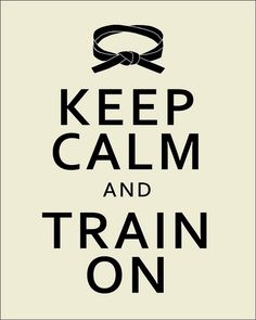 """Keep calm and train on"", via Flickr (S.Leece)"