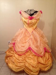 Custom Belle  Beauty and the  Beast   gold ball gown costume  Women's  size