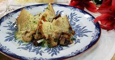 Bakad rotselleri med svamp och mandel | Recept.nu
