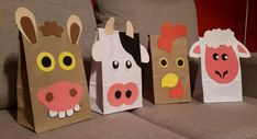 Aubrey's Birthday (Farm Theme) Farm Animal Party, Farm Animal Birthday, Barnyard Party, Farm Birthday, Farm Party, 3rd Birthday Parties, Paper Bag Crafts, Paper Bag Puppets, Party Fiesta