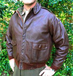 Original RW 27752 sz48 Leather Flight Jacket, Vintage Leather Jacket, Leather Jackets, Silver Wings, Bomber Jackets, Pink And Green, Pilot, Underwear, Men's Fashion