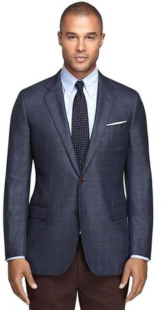Fitzgerald Fit Saxxon® Wool Windowpane Sport Coat