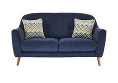 Simple, pure, comfortable Scandinavian style Perfect for smaller spaces Rounded silhouette with gently curving buttoned back Value Furniture, Sofa Furniture, Living Room Furniture, Furniture Sets, Sofa Italia, Furniture Village, Simple Sofa, Italian Sofa, Retro Sofa