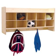 C51409 Wall Locker & Cubby Storage without Trays - WoodDesigns