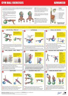 Gym Ball Exercises - Advanced