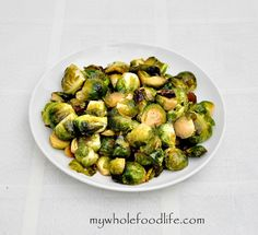 Maple Glazed Brussel Sprouts. These are so good. I don't even like brussel sprouts and I couldn't stop eating them.