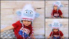Crochet Snowball  Monster Hat by KrazyHats1 on Etsy, $32.99