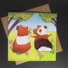 New to PlayfulStories on Etsy: Dancing Guinea Pigs Greeting Card - Birthday Easter Mother's Day Wedding Engagement Love Anniversary Good Luck (3.50 GBP)