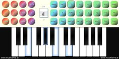All chords online on a virtual piano keyboard shown with their notes. All music chords from C to and to Bb 5 are shown on a virtual piano keyboard and also their notes are displayed - MusicAcademy Musik Keyboard, Music Software, Music Chords, Notes, Display, Keys, Bb, Life, Inspiration