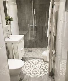 Best small bathroom remodel ideas on a budget (4) #bathroominteriordesign