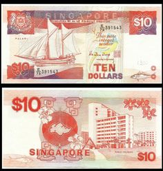 Singapore 10 Dollars Hawaii Travel, Thailand Travel, Croatia Travel, Bangkok Thailand, Italy Travel, Money Notes, Silver Certificate, Las Vegas Hotels, Nightlife Travel