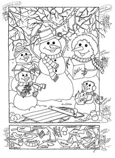 6 Best Images of Winter Hidden Picture Printables - Free Printable Christmas Hidden, Free Printable Hidden Pictures Winter and Printable Hidden Objects Coloring Pages Colouring Pages, Adult Coloring Pages, Coloring Books, Christmas Worksheets, Free Christmas Printables, Printable Games For Kids, Free Printable, Hidden Pictures Printables, Highlights Hidden Pictures