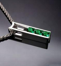collar de Topacio verde joyería de plata colgante de plata