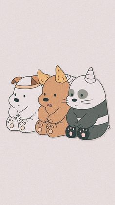We bare bears Cute Panda Wallpaper, Cartoon Wallpaper Iphone, Disney Phone Wallpaper, Bear Wallpaper, Kawaii Wallpaper, Pastel Wallpaper, Animal Wallpaper, We Bare Bears Wallpapers, Panda Wallpapers
