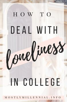 Did you know that of students reported feeling lonely at college? It's not as uncommon as you might think. Check out my latest post to read my story and learn some tips for overcoming loneliness. Online College, Education College, College Hacks, College Life, Uni Life, Study Skills, Study Tips, Dealing With Loneliness, Master Degree Programs