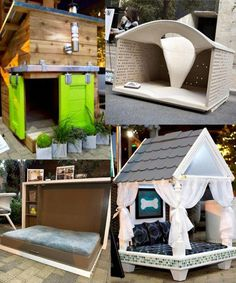 Time to emBark on a tour of luxurious dog houses worthy of MTV Cribs. Dog Mansion, Cool Dog Houses, Pet Houses, Luxury Dog House, Mtv Cribs, Dog Area, Outdoor Dog, Dog Design, Indoor