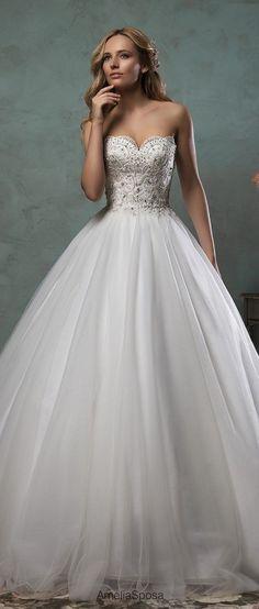 Amelia Sposa 2016 Sweetheart Wedding Dresses Giselle / http://www.himisspuff.com/sweetheart-wedding-dresses/6/