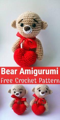 Amigurumi tedy bear and dog crochet plush free pattern – Free Amigurumi Patterns Animal Knitting Patterns, Crochet Dolls Free Patterns, Stuffed Animal Patterns, Amigurumi Patterns, Free Crochet, Dog Crochet, Stuffed Animals, Crochet Geek, Crochet Animals