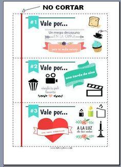 Talonario de San Valentín para imprimir   Aprender manualidades es facilisimo.com