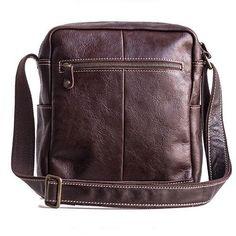 Genuine Leather Mens Cool Messenger Bag Square Bag Chest Bag Bike Bag Cycling Bag for men Cool Messenger Bags, Cycling Bag, Bike Bag, Custom Bags, Long Wallet, Card Wallet, Fashion Backpack, Shoulder Bag, Leather
