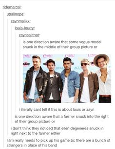 Found this on tumblr and I had to share it lol haha...I'm a directioner but this is still funny.